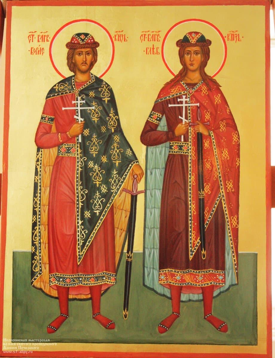 Картинки икон святых бориса и глеба
